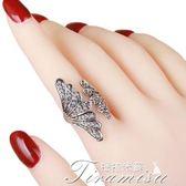 歐美夸張大氣水鑽食指戒指女日韓國個性復古裝飾指環簡約潮人飾品新年下殺