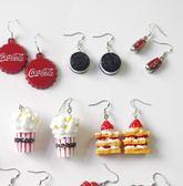 85折甜甜圈耳環食玩女學生我要吃耳夾開學季