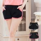 休閒時尚   日系配色層次口袋休閒短褲  2色(XL~5L)onlyyou 中大尺碼【B8022】