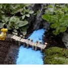 木製咖啡色小橋微景觀(單入) 盆栽裝飾【A009006】