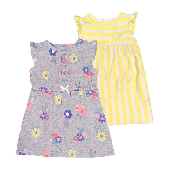 女寶寶洋裝套裝三件組 蝴蝶袖洋裝(2入)+內褲 黃條紋 | Carter s卡特童裝 (嬰幼兒/兒童/小孩)