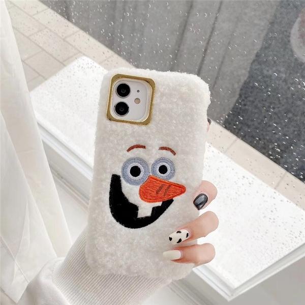 iPhone11ProMax 蘋果手機殼 毛絨絨雪寶 矽膠軟殼 iX/i8/i7/SE