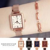 正韓JULIUS時光旅程方形金屬米蘭鍊帶手錶【WJA11538】璀璨之星☆