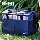 30L保溫袋 戶外露營 生活采家 牛津布 肩背手提 內側鋁箔 防水保溫 方型 包包 便當包 #52005