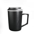 陶瓷馬克杯帶蓋過濾網茶水杯辦公室泡茶杯家用花茶杯 ciyo黛雅