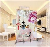 新款屏風折疊隔斷牆臥室客廳玄關辦公風水裝飾簡約現代移動折屏igo『新佰數位屋』