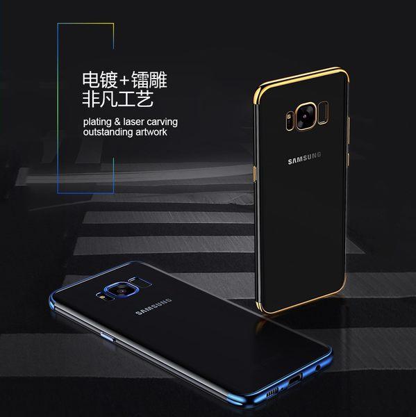 【SZ62】note10手機殼 三段式電鍍TPU軟殼 三星s8 Plus手機殼 note10+ S9 plus note8 note9 note5手機殼