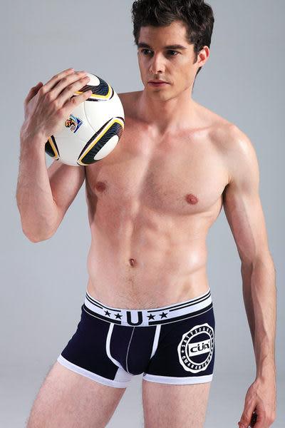 *免運*【Sexy cat】足球選手 舒適平口褲/內褲(藍) M-XXL