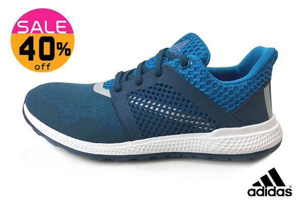 ADIDAS 大童鞋(女段)energy bounce 2 j 配色襪套彈性 緩震 透氣慢跑鞋 零碼出清N9355#藍色◆OSOME奧森童鞋