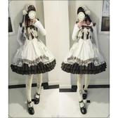 cos洋裝夏季日系少女十字架復古藥箱lolita連身裙jsk洛麗塔洋裝日常cos服LX 伊蘿鞋包