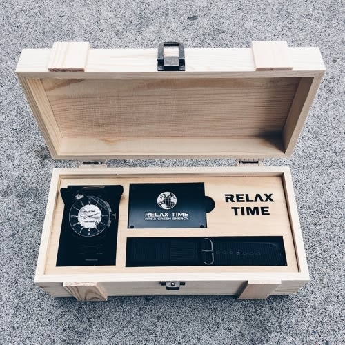 RELAX TIME史上最酷炫帥氣人動電能錶款-玫瑰金(RT-62-5)