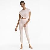PUMA 女款粉色瑜珈系列Studio扭結短版短袖T恤-NO.52022827