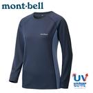 【Mont-Bell 日本 女 COOL L/S T 排汗長袖T恤《石墨藍》】1114457/運動上衣/快乾透氣