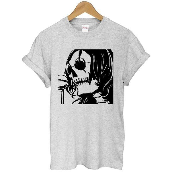 John Lennon-Skull短袖T恤 2色 Beatles披頭四JOHN藍儂潮設計插畫藝術搖滾樂團290