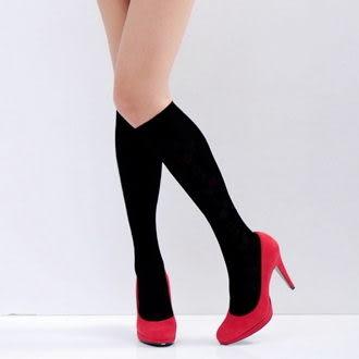 Amiss襪子團購網【A411】 素面中統絲襪(黑色;3款)