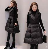 背心 棉馬甲女中長款韓版時尚顯瘦羽絨棉馬夾背心秋冬季外套