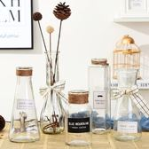 黑五好物節 花瓶玻璃客廳擺件裝飾品水培插花干花花器【名谷小屋】