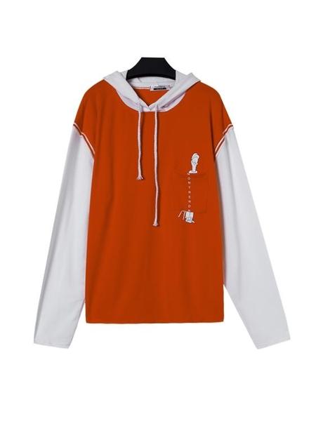 衛衣初春秋韓版寬鬆bf慵懶風假兩件長袖上衣套頭衛衣女潮連帽外套新品