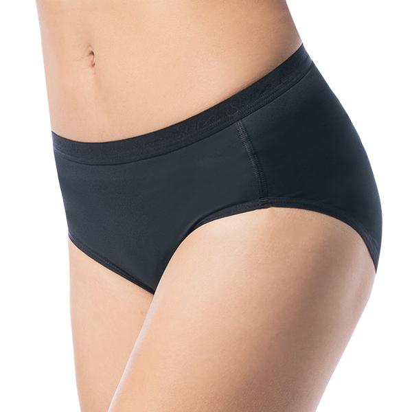 PolarStar 台灣 女 coolmax® 涼感纖維 排汗快乾三角內褲『黑』P10169 中腰 透氣 抗菌 抗靜電