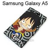 海賊王側翻支架皮套 [R03] Samsung Galaxy A5 航海王 魯夫【台灣正版授權】
