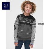 Gap男童 星際大戰系列套頭長袖針織衫 兒童圓領內搭上衣 399174-碳灰色