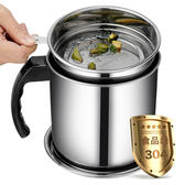 全館79折-家用廚房油壺帶蓋過濾網油渣隔304不銹鋼濾渣大容量裝油罐回油杯