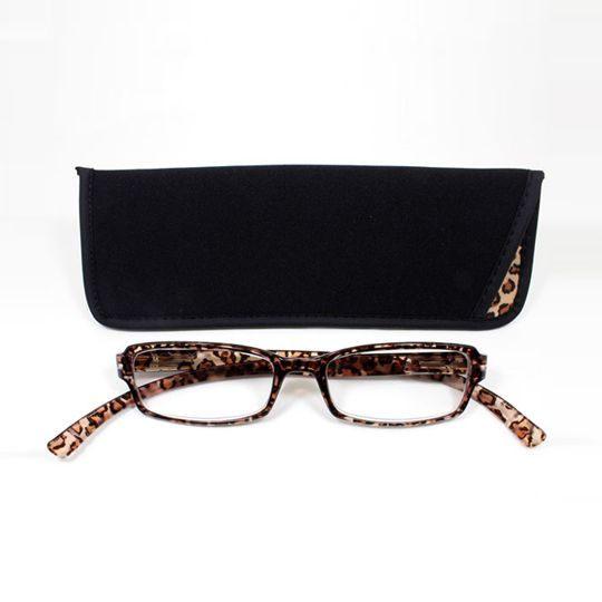 日本專利設計老花眼鏡 Neck Readers (經典豹紋) 可濾藍光、抗紫外線【S Life 若返生活】