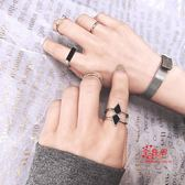 指環套裝 冷淡風五件套裝日式輕奢戒指女時尚個性歐美食指環網紅蹦迪關節戒