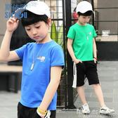 童裝男童透氣吸汗短袖t恤2018夏裝韓版中大兒童印花體恤孩打底衫 至簡元素