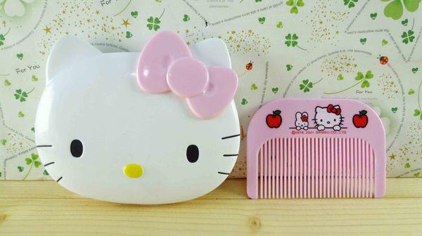 【震撼精品百貨】Hello Kitty 凱蒂貓-KITTY鏡梳組-粉頭