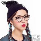 復古豹紋眼鏡框女 個性潮款韓版近視眼鏡架 大框黑平光鏡萌