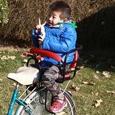 自行車兒童座椅後置帶兒童座椅電動瓶車寶寶後座架小孩座椅帶雨棚 【全館免運】 YJT