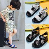 雙12好禮 童鞋2018夏季新款真皮男童涼鞋中大童男孩沙灘鞋軟底防滑兒童涼鞋