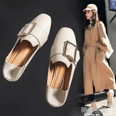 豆豆鞋女2020新款春季百搭小皮鞋一腳蹬單鞋女鞋子潮鞋樂福鞋春款