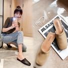 手工真皮女鞋34-40 2020新款歐美時尚百搭方頭穆勒鞋低跟涼鞋鞋 OL工作鞋 裡外全皮 ~3色