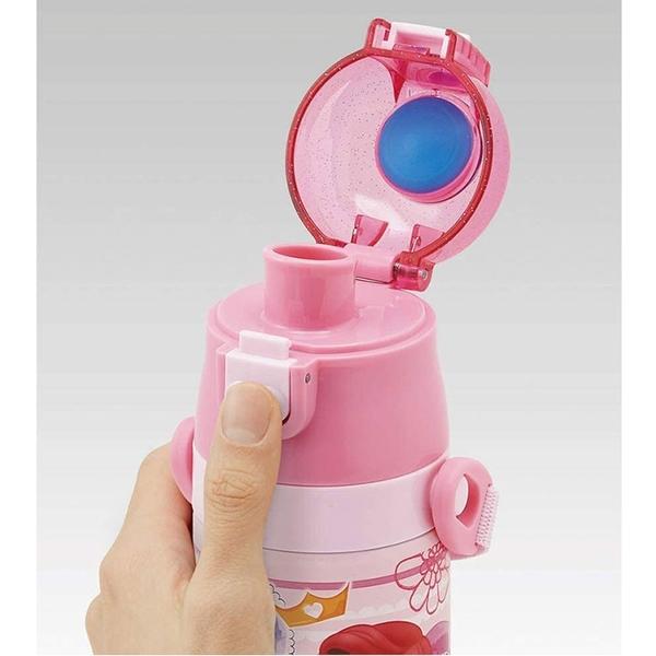 SKATER 超輕量不鏽鋼保冷直飲式水壺 470ml 迪士尼公主 城堡 粉_AT43730