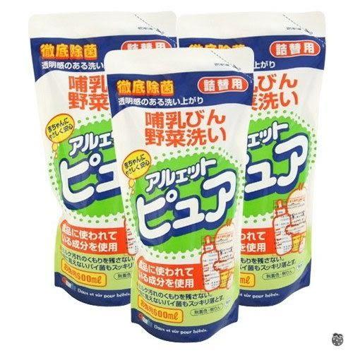 【嬰之房】丹平奶瓶消毒洗潔液補充包特價組(600ml*3包)