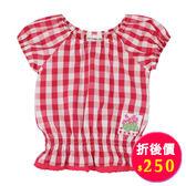 【愛的世界】純棉泡泡袖格紋上衣/2歲/4歲-台灣製- ★春夏上著