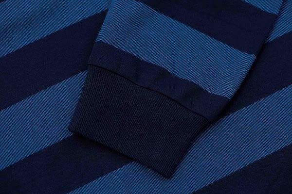 JOHN DUKE 約翰公爵美式休閒立領POLO衫(藍)