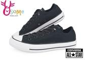 Converse帆布鞋 女鞋 經典黑 基本款黑色低筒帆布鞋 出清 H9830#黑◆OSOME奧森鞋業