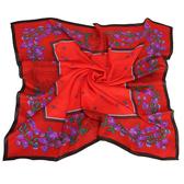 Christian Dior 古典紫藤花大領巾(紅) 179013-1