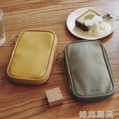 文具袋簡約女大容量多層筆袋文具盒手帳收納包工具收納袋護照包 時尚潮流