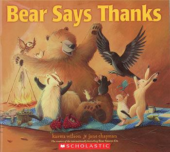 【麥克書店】BEAR SAYS THANKS /英文繪本 (主題: 友誼.分享)