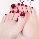 彩色成品腳趾甲貼片假腳指甲片