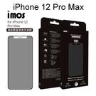 【iMOS】點膠3D手感膜霧面玻璃保護貼 iPhone 12 Pro Max (6.7吋) 聽筒防塵網