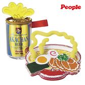 日本 People 美味拉麵 金色啤酒 咬舔玩具 固齒器 啟蒙玩具 6295