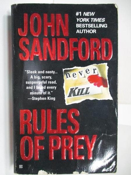 【書寶二手書T5/原文小說_AHF】Rules of Prey_John Sandford