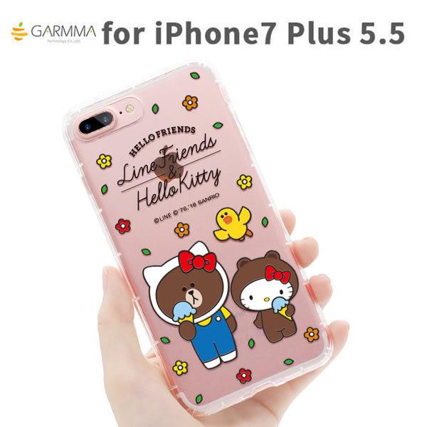 【漢博】iPhone 7 5.5吋 Hello Kitty X Line 空壓氣墊防摔 保護軟殼-仲夏戀曲