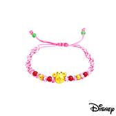Disney迪士尼金飾 雀躍美妮 黃金編織手鍊之一