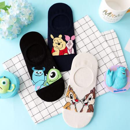 韓國 迪士尼好朋友矽膠止滑隱形襪 襪子 短襪 隱形襪 船型襪 奇奇蒂蒂 維尼 毛怪 大眼仔 迪士尼